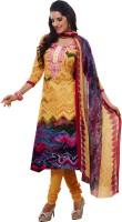 Kanheyas Cotton Graphic Print Salwar Suit Dupatta Material(Un-stitched)