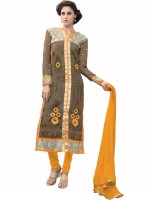 Viva N Diva Georgette Embroidered Salwar Suit Dupatta Material(Un-stitched)