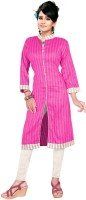 Trendz Apparels Silk Striped Kurti Fabric(Un-stitched)