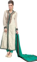 Khushali Georgette Self Design, Embroidered Salwar Suit Dupatta Material(Un-stitched)