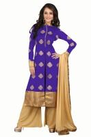 BanoRani Jacquard Self Design Salwar Suit Dupatta Material(Un-stitched)