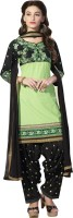 BanoRani Cotton Embroidered Salwar Suit Dupatta Material(Un-stitched)