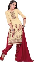 BanoRani Chanderi Embroidered Dress/Top Material(Un-stitched)