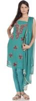Chhabra 555 Georgette Self Design Salwar Suit Dupatta Material(Un-stitched)