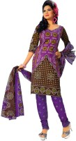 Buyclues Cotton Printed Salwar Suit Dupatta Material(Un-stitched)