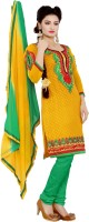Araja Cotton Embroidered Salwar Suit Dupatta Material(Un-stitched)