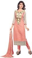 Khushali Chanderi Self Design, Embellished, Embroidered Dress/Top Material(Un-stitched)