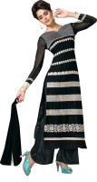 BanoRani Georgette Embroidered Dress/Top Material(Un-stitched)