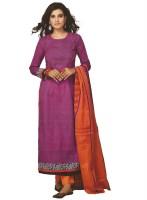 Pshopee Cotton Printed Salwar Suit Dupatta Material(Un-stitched)
