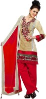 Cenizas Cotton Self Design Semi-stitched Salwar Suit Dupatta Material