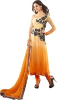 Aagaman Fashion Georgette Self Design Semi-stitched Salwar Suit Dupatta Material