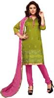 BanoRani Chanderi Self Design Salwar Suit Dupatta Material(Un-stitched)