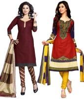 Priyanshi Cotton Printed Salwar Suit Dupatta Material(Un-stitched)