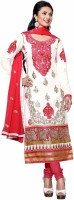Khushali Cotton Embroidered Salwar Suit Dupatta Material(Un-stitched)
