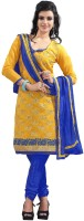Khushali Chanderi Embroidered Salwar Suit Dupatta Material(Un-stitched)