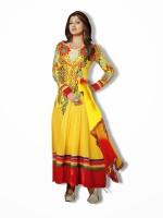 Shoponbit Georgette Self Design Semi-stitched Salwar Suit Dupatta Material