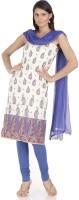 Chhabra 555 Cotton Self Design Salwar Suit Dupatta Material(Un-stitched)