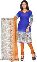 Khushali Cotton Self Design, Printed Dress/Top Material(Un-stitched)