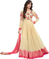 Jiya Georgette Self Design, Embroidered Salwar Suit Dupatta Material(Un-stitched)