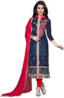 Saara Cotton Embroidered Salwar Suit Dupatta Material(Un-stitched)