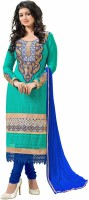 Sonal Trendz Synthetic Georgette Embroidered Semi-stitched Salwar Suit Dupatta Material