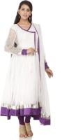 Chhabra 555 Nylon Self Design Salwar Suit Dupatta Material(Un-stitched)