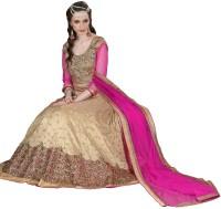 Jiya Silk Self Design, Embroidered, Embellished Semi-stitched Lehenga Choli Material