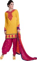 Melluha Cotton Self Design Semi-stitched Salwar Suit Dupatta Material