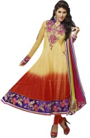 Triveni Net Self Design Dress/Top Material(Un-stitched)