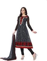 Melluha Net Self Design Semi-stitched Salwar Suit Dupatta Material