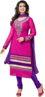 Vardhman Synthetics Georgette Embroidered Dress/Top Material(Un-stitched)