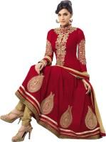 Rozdeal Satin Self Design Semi-stitched Salwar Suit Dupatta Material
