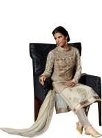 Ewows Silk Embellished, Embroidered Salwar Suit Dupatta Material(Un-stitched)