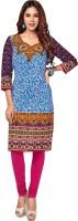 Party Wear Dresses Cotton Printed Kurti Fabric(Un-stitched)