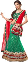 Kanheyas Net Self Design Semi-stitched Lehenga Choli Material