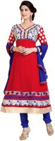Rozdeal Georgette Embroidered Salwar Suit Dupatta Material(Un-stitched)