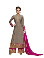 BanoRani Crepe Embroidered Salwar Suit Dupatta Material(Un-stitched)