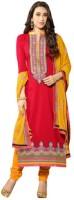 Parishi Fashion Cotton Embroidered Salwar Suit Material(Un-stitched)