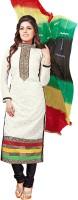 Parishi Fashion Cotton Embroidered Semi-stitched Salwar Suit Dupatta Material
