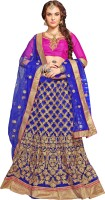 Khushali Net Self Design, Embroidered, Embellished Semi-stitched Lehenga Choli Material