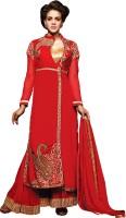 We Desi Georgette Self Design Semi-stitched Salwar Suit Dupatta Material