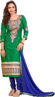 Vardhman Synthetics Cotton Embroidered Dress/Top Material(Un-stitched)