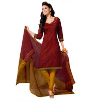 Miraan Cotton Solid Salwar Suit Dupatta Material(Un-stitched)