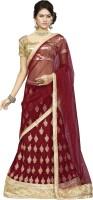 Khushali Velvet Self Design, Embroidered, Embellished Semi-stitched Lehenga Choli Material