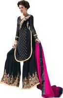 BanoRani Georgette Embroidered Semi-stitched Salwar Suit Dupatta Material