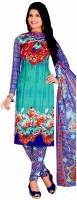 Alolah Crepe Printed Salwar Suit Dupatta Material(Un-stitched)