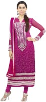 Khushali Georgette Embroidered Dress/Top Material(Un-stitched)
