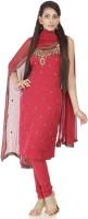 Chhabra 555 Crepe Printed Salwar Suit Material(Un-stitched)