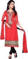 Trendz Apparels Net Embroidered Dress/Top Material(Un-stitched)
