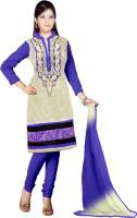 Sonal Trendz Net Embroidered Salwar Suit Dupatta Material(Un-stitched)